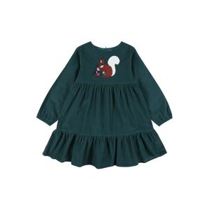 STACCATO Šaty  tmavě zelená / hnědá / bílá / červená