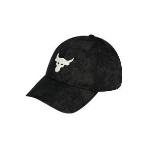 UNDER ARMOUR Sportovní kšiltovka 'UA Project Rock'  černá / bílá