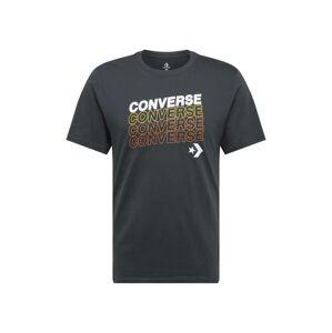 CONVERSE Tričko  černá / bílá / žlutá / červená