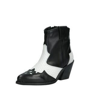 Bianco Kovbojské boty 'Cuba'  černá / přírodní bílá