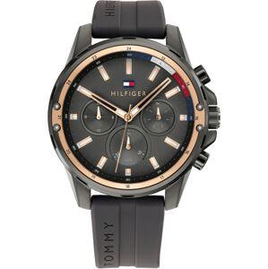 TOMMY HILFIGER Analogové hodinky 'MASON'  tmavě šedá / růžově zlatá