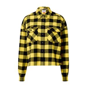 Tommy Jeans Halenka 'Gingham'  žlutá / černá