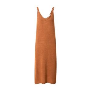 TOM TAILOR DENIM Úpletové šaty  hnědá