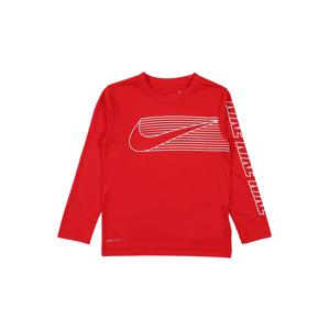 Nike Sportswear Tričko 'DOMINATE SWOOSH'  červená / bílá
