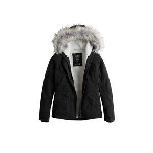HOLLISTER Zimní bunda 'LD19-DTC MIDWT LINED TWILL ANORAK  4CC'  černá