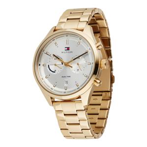TOMMY HILFIGER Analogové hodinky  zlatá / bílá