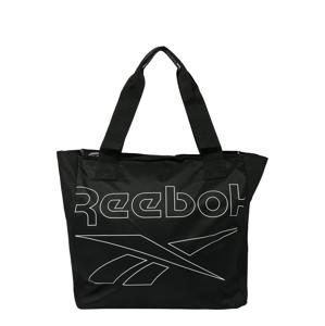 REEBOK Sportovní taška  černá / bílá