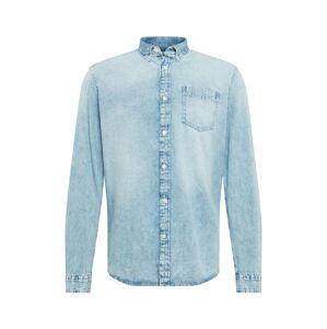 EDC BY ESPRIT Společenská košile 'moonwash'  modrá džínovina