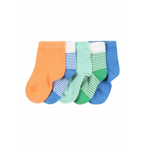 NAME IT Ponožky 'RALONO'  modrá / bílá / zelená / mátová / broskvová