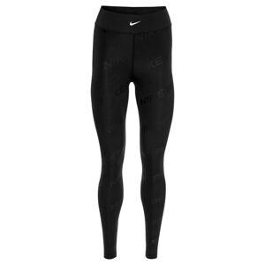 NIKE Sportovní kalhoty  černá / bílá