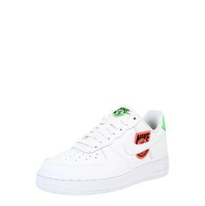 Nike Sportswear Tenisky 'Air Force 1'  bílá / černá / světle zelená / tmavě oranžová