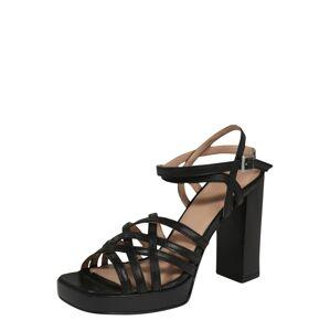 BRONX Páskové sandály 'New Renee'  černá
