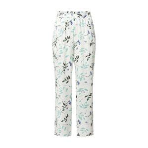 Hunkemöller Pyžamové kalhoty  bílá / zelená / hnědá