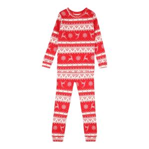 GAP Pyžamo 'FAIRISLE'  červená / bílá
