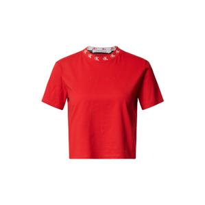 Calvin Klein Jeans Tričko 'CK LOGO TRIM SS TEE'  červená
