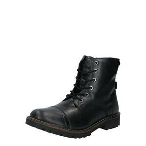 LEVI'S Šněrovací boty 'TRACKER'  černá