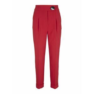 heine Kalhoty se sklady v pase  karmínově červené