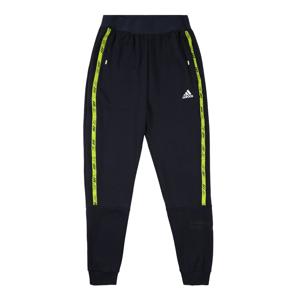 ADIDAS PERFORMANCE Sportovní kalhoty  modrá / svítivě žlutá / bílá