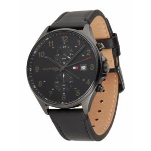 TOMMY HILFIGER Analogové hodinky  černá