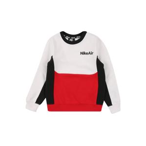 Nike Sportswear Mikina  bílá / světle červená / černá