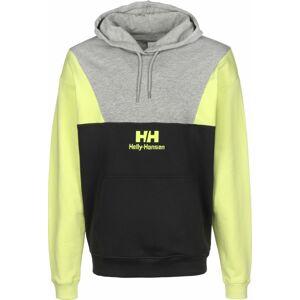 HELLY HANSEN Mikina ' Yu20'  černá / šedý melír / žlutá