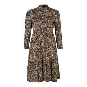 Dorothy Perkins Curve Košilové šaty  hnědá / černá
