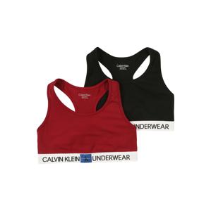 Calvin Klein Underwear Podprsenka  černá / vínově červená