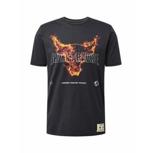 UNDER ARMOUR Funkční tričko 'Rock Fire'  černá / bílá / tmavě oranžová / červená