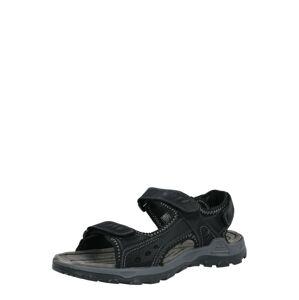 TOM TAILOR Sandály  černá