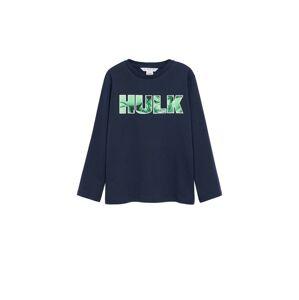 MANGO KIDS Tričko 'HULK'  námořnická modř / trávově zelená / tmavě šedá
