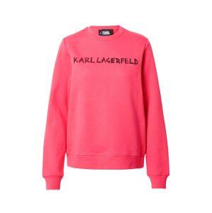 Karl Lagerfeld Mikina  pink / černá