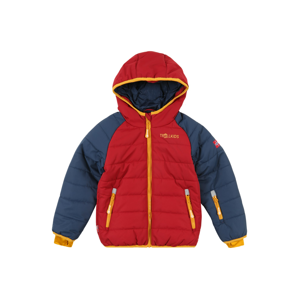 TROLLKIDS Outdoorová bunda 'Hafjell'  rezavě červená / zlatě žlutá / modrá