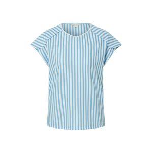 TOM TAILOR DENIM Tričko  bílá / kouřově modrá