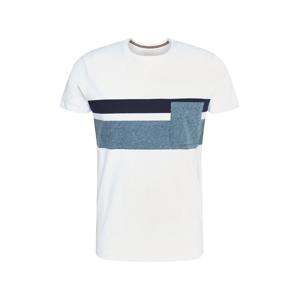 ESPRIT Tričko  bílá / modrá / námořnická modř