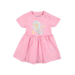 BLUE SEVEN Šaty  pink / světlemodrá / bílá / černá / pastelově oranžová