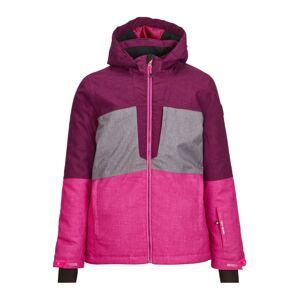 KILLTEC Outdoorová bunda 'Raakel'  šedá / fuchsiová / burgundská červeň