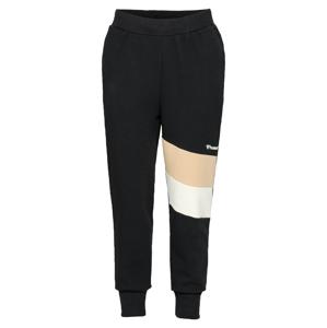 Hummel Sportovní kalhoty 'AIDAN'  černá / bílá / béžová