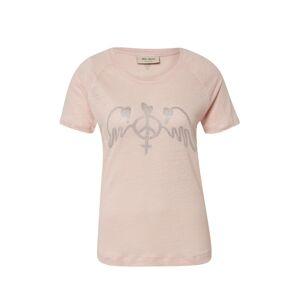 MOS MOSH Tričko 'Mag Linen Tee SS'  stříbrná / růžová