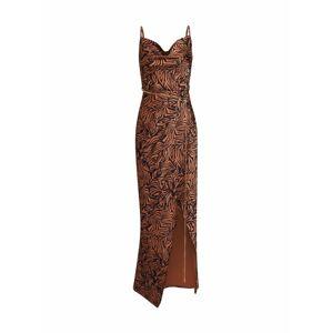 Unique21 Společenské šaty  černá / tmavě hnědá