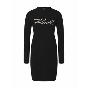 Karl Lagerfeld Košilové šaty  černá / bílá