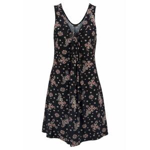 LASCANA Plážové šaty  starorůžová / černá