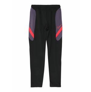 NIKE Sportovní kalhoty 'Academy'  jasně červená / černá / světle fialová