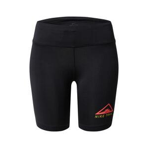 NIKE Sportovní kalhoty 'Nike Fast'  červená / černá