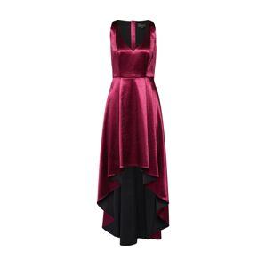 COMMA Společenské šaty  rubínově červená