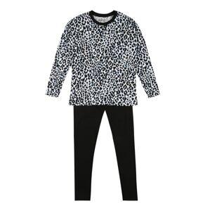 SANETTA Pyžamo  bílá / černá / světle hnědá