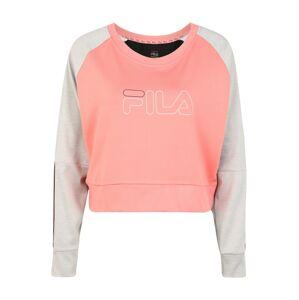 FILA Sportovní mikina 'AHUVA'  šedá / bílá / pink