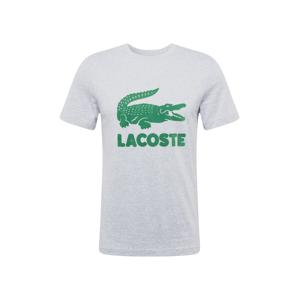 LACOSTE Tričko  šedá / zelená
