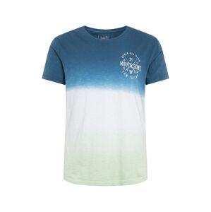 TOM TAILOR DENIM Tričko  kouřově modrá / mátová / bílá