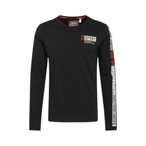 CAMP DAVID Tričko  černá / bílá / červená / šedá