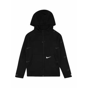 Nike Sportswear Mikina  bílá / černá / šedá
